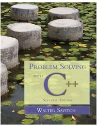 Problem Solving with C++ - 7E Kitchener, N2P 2L8