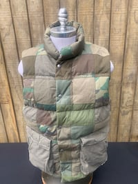 Ralph Lauren Gray Duck Down Camo Puffer Vest Mens Large