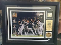 Brand new 2005 Chicago White Sox World Series limited edition plaque w/piece of base used in game Northbrook, 60062