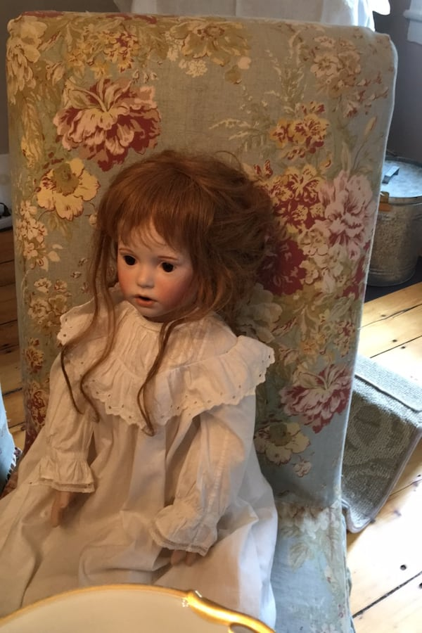 Beautiful hand made doll in antique dress. Porcelain body parts 789aaf22-f1d7-4afd-8114-f1569676a21f