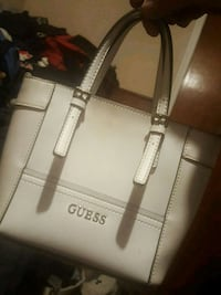 white and gray and black leather tote bag Edmonton, T6A 3J6