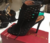 Shu Shop Black faux suede shoes size 8 Lawrenceville, 30043