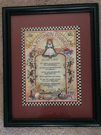 Cute Kitchen Prayer Framed Picture Marietta, 17547