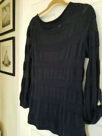 Ann Taylor LOFT  navy blue sweater with matching  blue cami Bowie, 20721