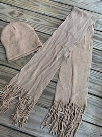 gray fringe scarf with knit cap Germantown, 20874