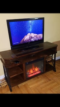 TV Stand with Fireplace and shelves (Ashley Furniture)