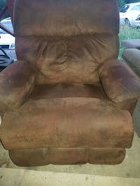 brown suede recliner sofa chair Moores Hill, 47032