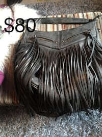 Aldo's Grey Fringed Leather Purse