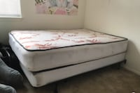 Full Size Mattress with bed frame 42 mi
