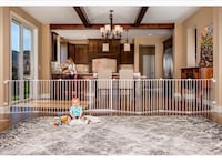 8 panel baby gate- 192inches fits super big area 62 km