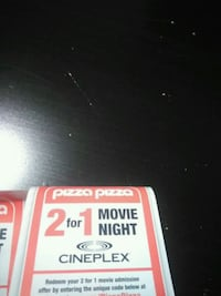 Pizza pizza coupons for the movies  Mississauga, L5A 2Y3