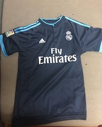 black and blue Adidas Fly Emirates jersey shirt Edmonton, T5E 3V8