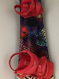 GNU Gnuru Velvet snowboard 147, Trilogy bindings and boa boots