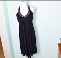 SIZE 8 strapless ties sequins top could wear cardigan winter parties