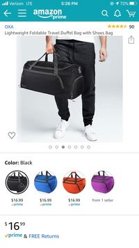 Gym Dufflebag with Shoe Compartment