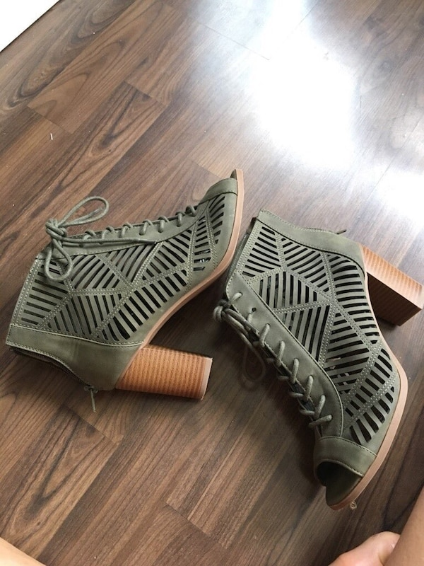 Army green booties