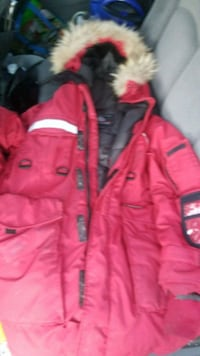 red and black bubble jacket Surrey, V3T 2T5