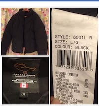 Svart canada goose zip-up jakke collage Oslo, 0282
