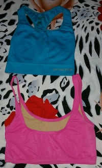 Two blue and pink sports bra Hamilton
