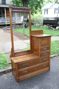 Antique dresser with mirror