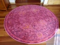 round pink and purple floral area rug Prescott, 86301