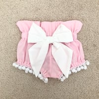 Sugarplum Lane Baby Pom Pom bloomer shorts- worn once for pictures Mississauga, L5M 0C5