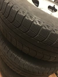 Set of 4 Winter Michelin X Ice Tires and Rims