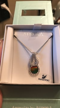 Brand new never worn Aurora necklace with ammolite and Swarovski crystals  Calgary, T3H 0E9