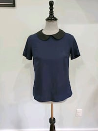 Navy collared blouse size XS
