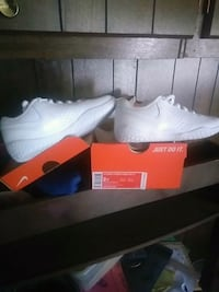 All white nike Shoes youth size 2 brand new