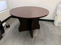 "42"" round brown wooden pedestal table Vaughan, L4K"