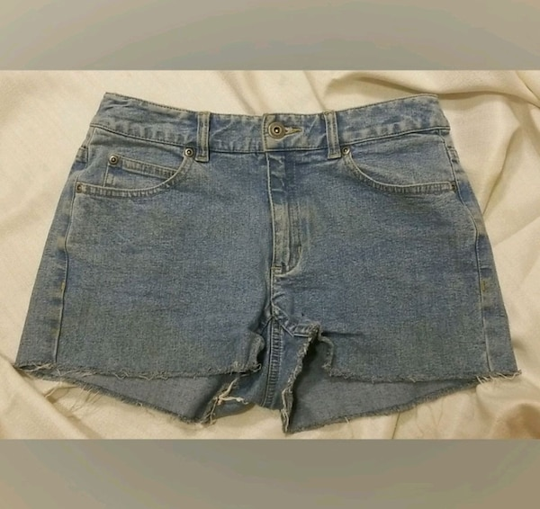 High Waisted Jean Shorts 0