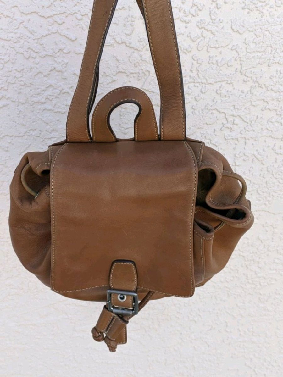 Photo Coach leather backpack purse