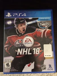 Play station ps4 nhl 18 hockey game  Mississauga, L5E 2H1