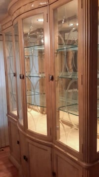 brown wooden framed glass display cabinet Fort Washington, 20744