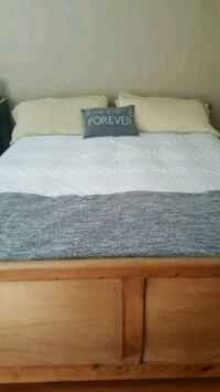 Ca King Bed Frame, Nightstand and 8 dra