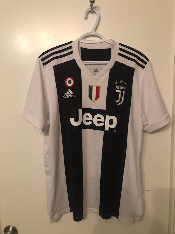 info for 3161e 99feb Jeep adidas Ronaldo jersey size: large $90