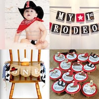Cowboy 1st Birthday decorations and cake smash outfit Louisville, 40118
