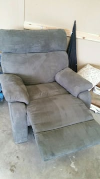 gray suede recliner sofa chair Mission, V2V 1C9