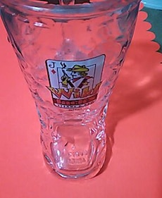 Wild Jacks Steak & BBQ boot glass