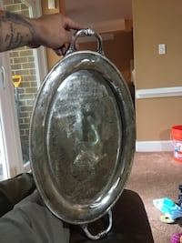 Real silver tea tray castleton company Gaithersburg