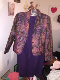 purple and pink floral long-sleeved dress Jacksonville, 32208