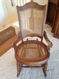 ANTIQUE CANED SMALL CHAIR -  Like New