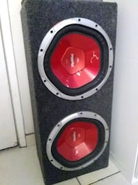 black and red Sony Xplod subwoofer Los Angeles, 91306