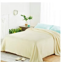 Brand New Twin Ivory color warm soft blanket
