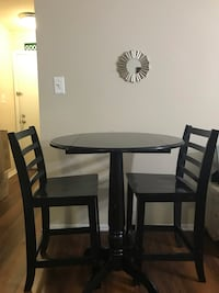 black wooden table with two chairs Gaithersburg, 20879