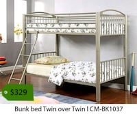 white metal bunk bed with mattress La Mirada, 90639