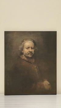 "Small Self-Portrait of REMBRANDT (18 5/8"" H x 15 5/8"" W) Arlington, 22204"