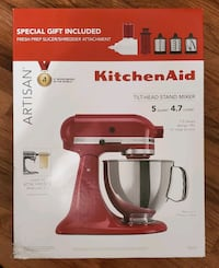 NEW RED Kitchenaid Mixer with Slicer Shredder