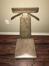 Vintage 1961 brown leather dressing chair. Savannah, 31415